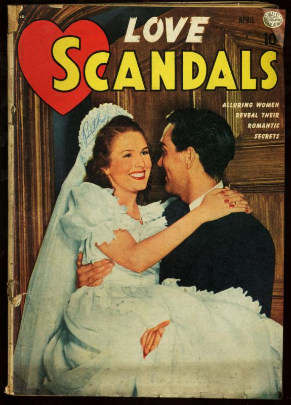 LOVE SCANDALS #2-1950-PHOTO COVER G/VG