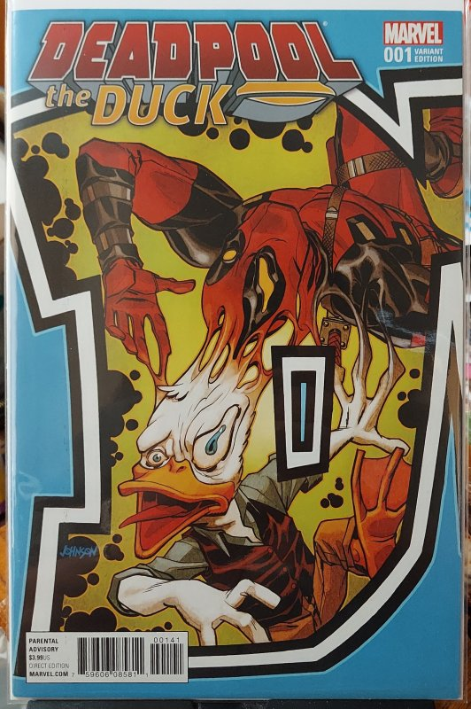 Deadpool the Duck #001 NM INCENTIVE DAVE JOHNSON CONNECTING COVER A VARIANT