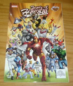 Triple-A Baseball Heroes #1 VF- richmond braves variant - iron man marvel comics