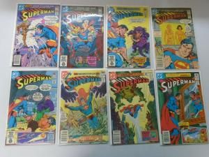 Superman comic lot from #350-421 48 different issues (1980-86) avg 7.0