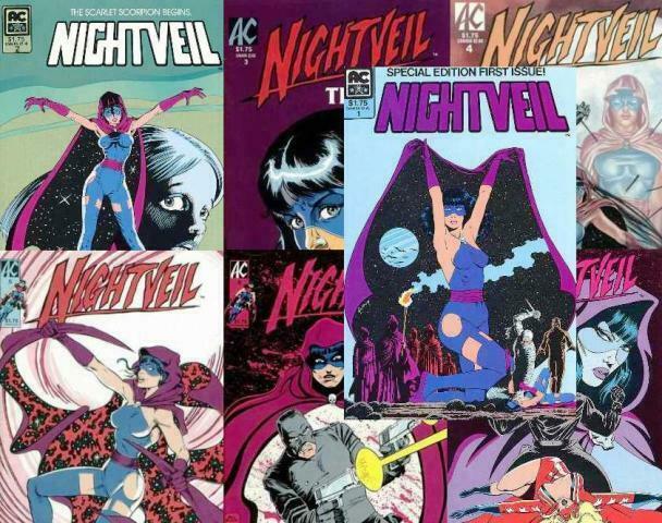 NIGHT VEIL (1984 AM) 1-7  FemForce