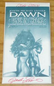 Linsner's Dawn: Venus in Chrome limited edition 6 card chromium set (#1766/2500)