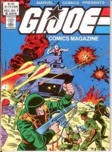 GI JOE DIGEST (COMICS MAGAZINE) 7 VF-NM Dec. 1987 COMICS BOOK