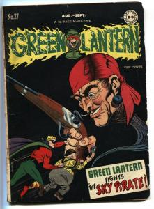Green Lantern #27 1947 1st appearance of SKY PIRATE-DC- VG-