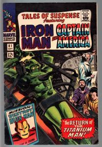 TALES OF SUSPENSE #81 1966-IRON MAN/CAPTAIN AMERICA-MARVEL-VG plus VG+