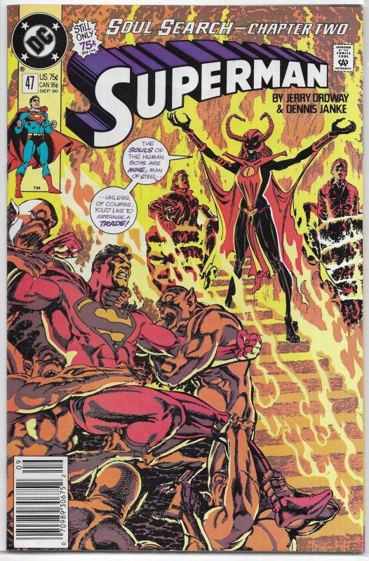 Superman (vol. 2, 1987) # 47 VG (Soul Search 2) Ordway, Blaze