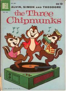 THREE CHIPMUNKS F.C.1042 G-VG Oct.-Dec. 1959 COMICS BOOK