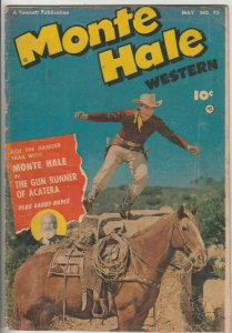 Monte Hale Western # 72 Strict VG Cover Monte Hale photo, Gabby Hayes