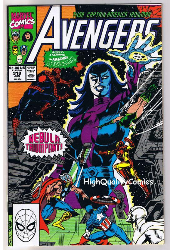 AVENGERS #318, NM, Captain America, Iron Man, Thor, Nebula, 1963, more in store