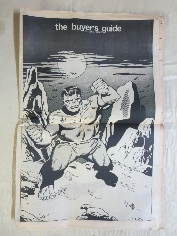 BUYERS GUIDE #7 Hulk cvr, Sept 1971 Classics launch ads