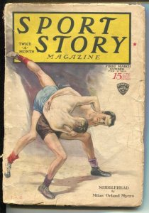 Sport Story 3/1929-wrestling cover & story-pulp stories-Dr. H C Carlson-VG