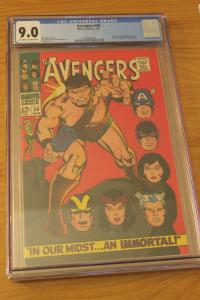 The Avengers #38 (Marvel, 1967) CGC VF/NM 9.0 Off-white to white pages