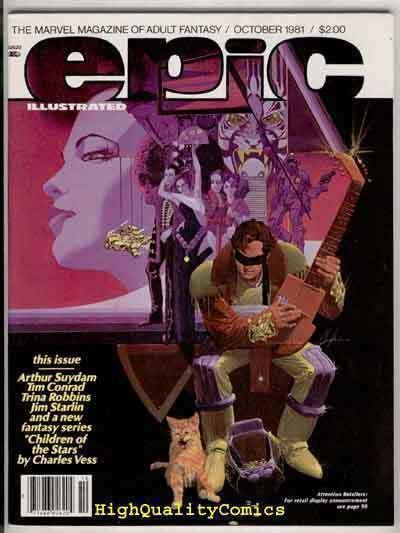 EPIC ILLUSTRATED #8, VF/NM, Arthur Suydam, Vess, Jim Starlin,  more in r store