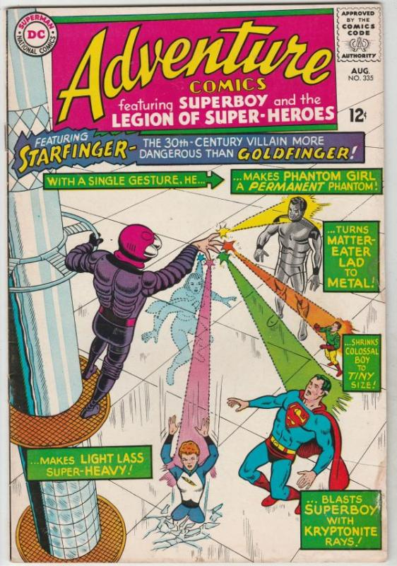 Adventure Comics #335 (Aug-65) FN/VF+ High-Grade Legion of Super-Heroes, Supe...