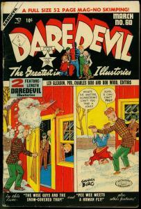 Daredevil #60 1950-Lev Gleason- Charles Biro- Norman Maurer VG
