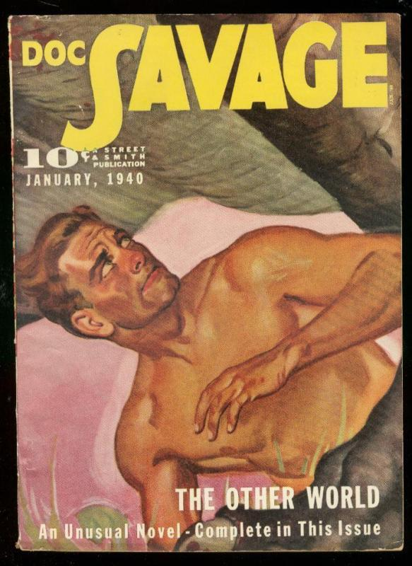DOC SAVAGE JAN 1940-OTHER WORLD-PULP-STREET & SMITH FN/VF