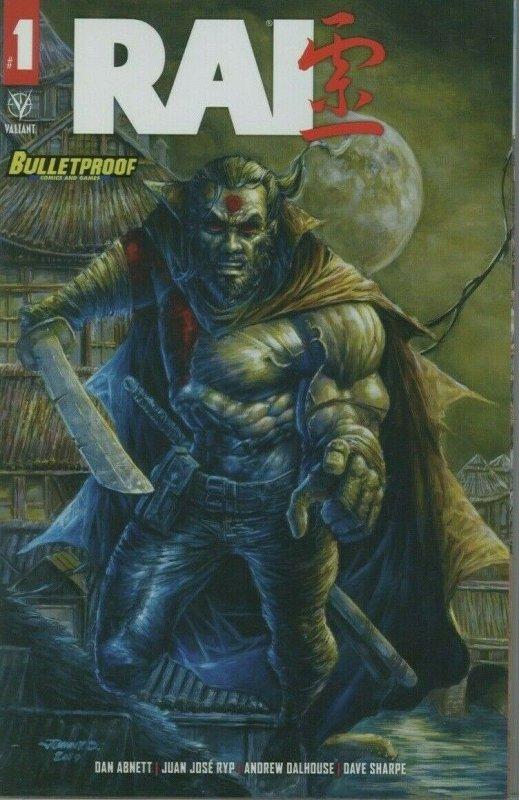 Rai #1 Bulletpoof Variant Original Cover Painting by Johnny Desjardins 11x17