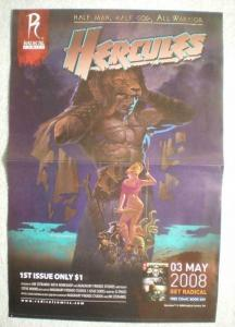 HERCULES / CALIBER Promo Poster, 11x16, 2008, Unused, more Promos in store