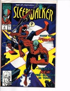 Marvel Comics Sleepwalker #6 Spider-man Kingpin Bret Blevins Art