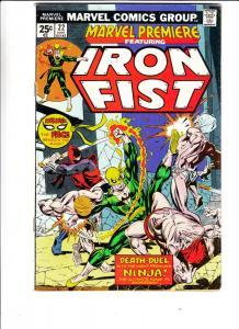 Marvel Premier #22 (Dec-74) FN+ Mid-High-Grade Iron Fist