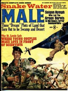 Male Magazine August 1966 -minney cheesecake cohen mort kunstler BAD MAGS VG