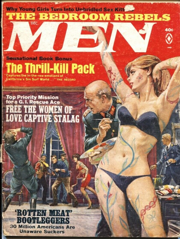 MEN-DEC 1967-GESTAPO LOVE SLAVES-PULP THRILLS-CHEESECAKE-MAFIA CRIME