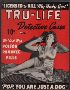 Tru-Life Detective Cases10/1942-Tayshack-terrified babe cover-crime-mystery-VF