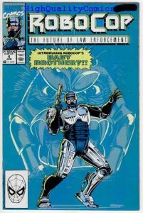 ROBOCOP #4, NM+, Future of Law Enforcement, Alan Grant, 1990, more RC in store
