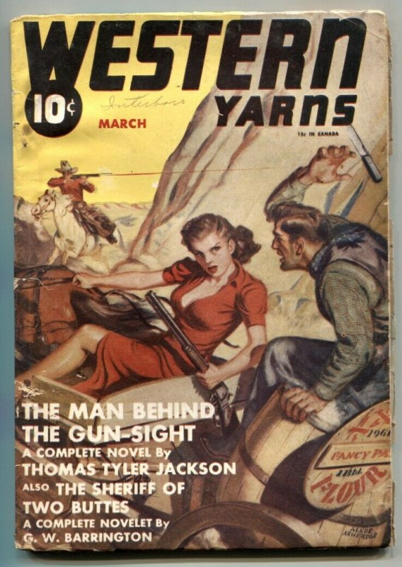 Western Yarns Pulp March 1941- Man Behind the Gun-Sight VG
