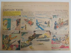 Captain Yank Sunday by Frank Tinsley from 2/14/1943 Size: 11 x 15 inches