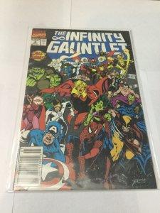 Infinity Gauntlet 3 Fn Fine 6.0 Newsstand Edition Marvel Comics