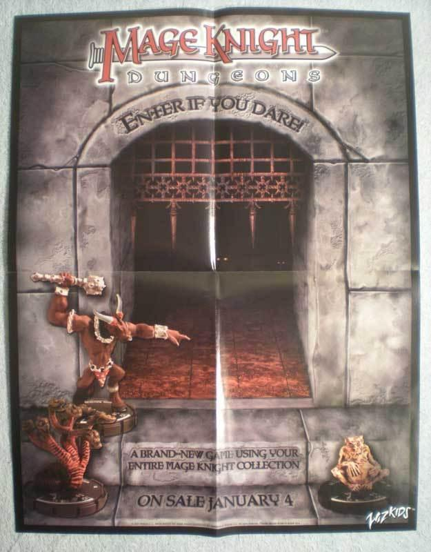 MAGE KNIGHT ENTER IF Promo poster, 17x 22, 2001, Unused, more Promos in store