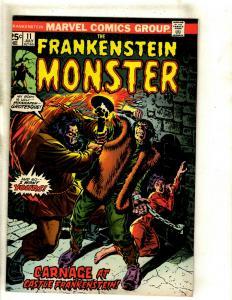 Monster Of Frankenstein # 11 FN/VF Marvel Comic Book Mike Ploog Cover Horror RS1
