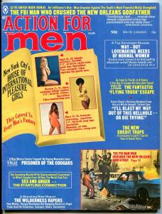 Action For Men March 1974-CHEESECAKE-FBI-MAFIA-RARE LATE FN