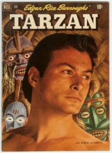 TARZAN (1948-1972 DELL) 28 FINE photo cover: LEX BARKER COMICS BOOK
