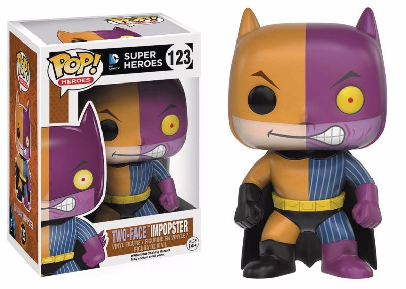 Batman as Two-Face ImPOPster Funko Vinyl Figure #123 (DC Super Heroes) New!