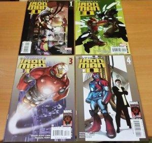 Ultimate Iron Man II 1-4 Complete Set Run! ~ NEAR MINT NM ~ 2008