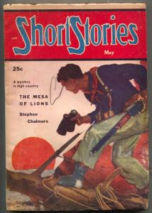 Short Stories Pulp February 1952-Mesa of Lions VG+