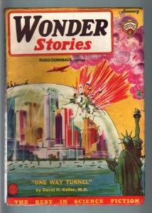 WONDER STORIES 1934 DEC-FRANK R PAUL-SCI FI PULP! VG+