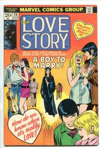 OUR LOVE STORY #24 1973-MARVEL-GENE COLAN-DON HECK-SAL BUSCEMA-fn minus