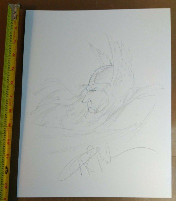 Angel Medina Original Thor sketch signed