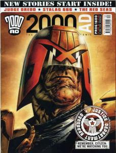 2000 AD Magazine #1600 VF/NM judge dredd A.D. red seas stalag 666 mag
