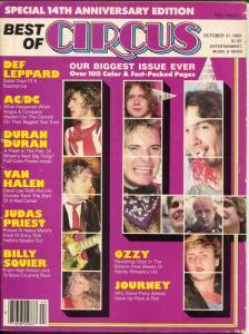 Best of Circus 10/31/198100+ pages-Ozzy-Van Halen-AC/DC-Journey-VG