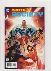 Earth 2: Society #1 VF+ 8.5 DC Comics Batman Superman Justice League