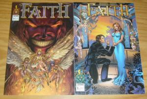 Faith #1 VF/NM one-shot + variant JOHN CLEARY lightning comics bad girl set