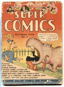 Super Comics #6 1938- Early comic book- DICK TRACY G-