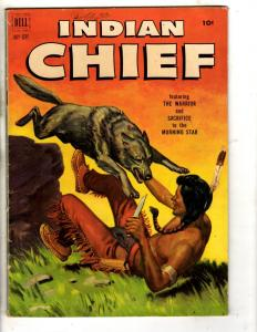 Indian Chief # 7 FN 1952 Dell Comic Book Golden Age Wolf Warrior Morning St J314