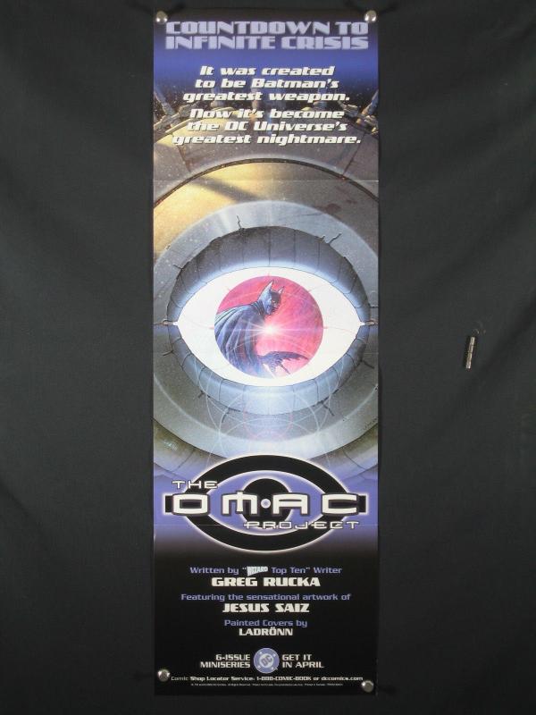 OMAC Project DC Comics Promo Poster BATMAN 2005 34x11