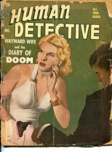HUMAN DETECTIVE- DEC 1948-SPICY-MURDER-VICE-RAPE-PYROMANIA-fair FR