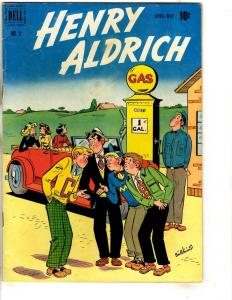 Henry Aldrich # 5 VF- Dell Golden Age Comic Book Gas Station Cover JL18